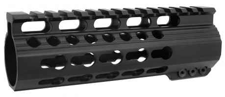 Ultra Slim KeyMod Free Float Clamp-On Style Hand Guard/6""